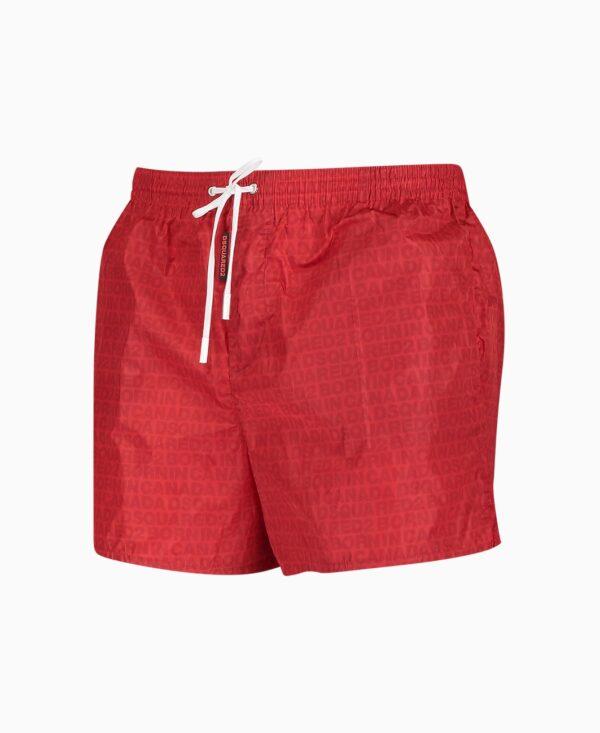 Dsquared 2 Red Logo Swim Shorts