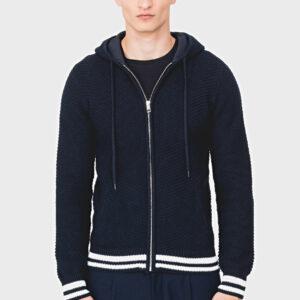 Antony Morato Navy Full Zip Hooded Cardigan